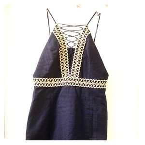 Navy Blue and Gold Lilly Pulitzer dress